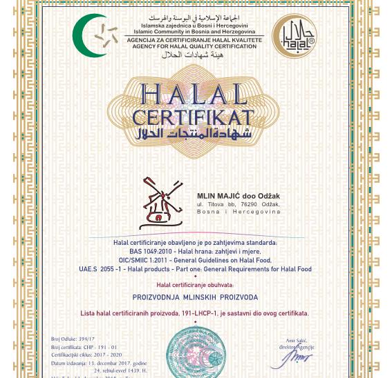 Uspješno smo završili certificiranje Halal standarda
